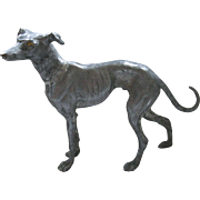 Vintage Heavy, Standing Greyhound Whippet Dog Sculpture Figurine