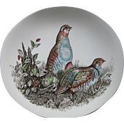 Huge, Johnson Brothers, Hand Engraved Porcelain PARTRIDGE Plate, England