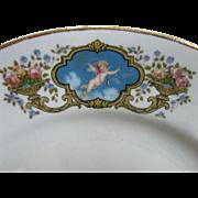 Vintage Cupid, Rare, Albright China Company Cherub, Angel, Putti Ironstone Plate, Circa 1920