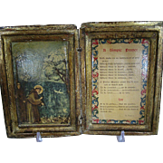 "Vintage Florentine, Italy, Book Box, St. Francis, ""A Simple Prayer"""