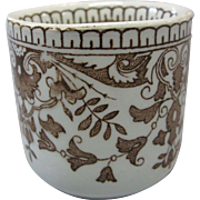 "Rare Staffordshire, T & R Boote, ""Tournay"" transferware Child's Cup, circa 1885, England"