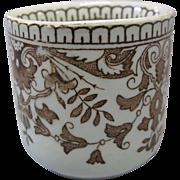 "Rare Staffordshire, T & R Boote, ""Tournay"" transferware Child's Cup, circa 1885, England"
