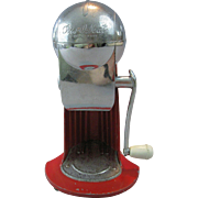"ORIGINAL, 1930's ,""Ice O Mat"" Ice Crusher, Atomic Red, by Rival"