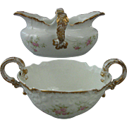 Circa, 1884, OPCo Syracuse China Cream & Sugar Set, Pattern# 50204