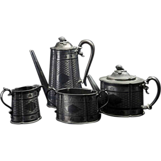 Silver Coffee Service Set - 4 pieces - Reduced