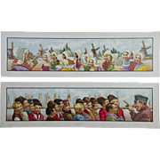 2 Spectacular Lithographs - Dutch Children