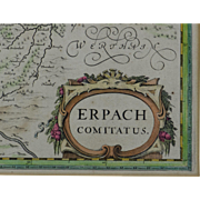 400 yr old Engraved Map - Beautifully Framed - Shipped Free