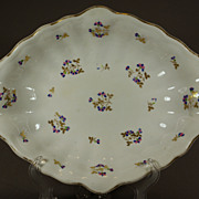 Derby Porcelain Lozenge Shaped Dessert Dish - C 1815