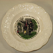 Child's Plate With Proverb Mid 19th Century