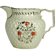 Pearlware Pineapple Form Silver Lustre Pitcher, C1810