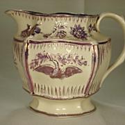Weston Form Pink Lustre Pitcher, C1820