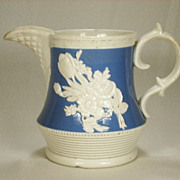 Staffordshire Jasperware Pitcher with Applied Decoration, 1820's