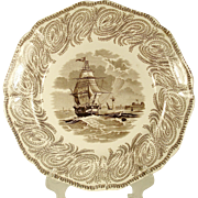 Neptune Staffordshire Nautical Plate, 1839-1846