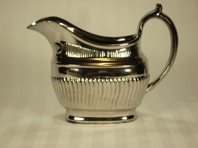Relief Molded Creamer with All Over Silver Lustre Decoration, 19th Century