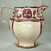 Pink Lustre Weston Style Pitcher, C1820