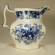 Staffordshire Pitcher with Scrolled Decoration, Ridgeway, C 1840
