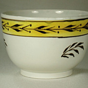 Pearlware Bowl with Pratt Ware Type Decoration, C 1810's