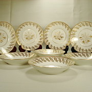 Set of 8 English Porcelain New Hall Saucer Bowls C1820