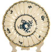Caughley English Porcelain Fluted Bowl, 1780's