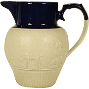 Stoneware Body Pitcher with Relief Molding  C 1815