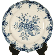 Chinese Porcelain Plate in Worcester Pinecone Pattern