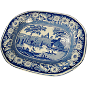 Large Staffordshire Transfer Printed Platter, 19th Century