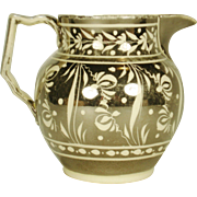 Creamware Silver Resist Lustre Pitcher, C 1820
