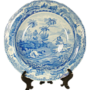 Spode Indian Sporting Series Soup Bowl  1820's