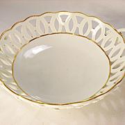 Worcester Porcelain Chestnut Basket, 1780