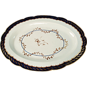 Worcester Flight Period Porcelain Platter, C1790