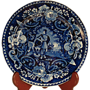 Peace and Plenty Clews Transferprinted Plate, 1820's