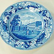 Ralph Stevenson Staffordshire Soup Bowl, Park Theater New York  1820's