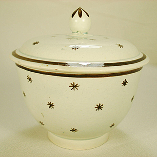 Pearlware Sugar Bowl with Prattwear Decoration, C1810