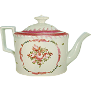 Pearlware Teapot with Famille Rose Decoration, C1800-1810