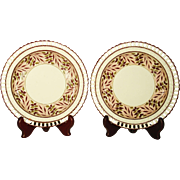 Pair of Creamware Reticulated Plates,  C 1810's