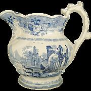 Large Staffordshire Thomas Mayer Pitcher, 1830's