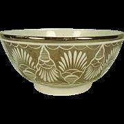 Pearlware Silver Resist Lustre Waste Bowl C 1820