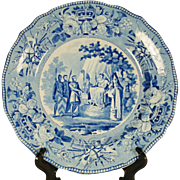 Signing of The Magna Charta Transferprinted Staffordshire Plate, 1820's