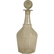 American Glass Decanter and Stopper,Mckearin Form  1825-1840