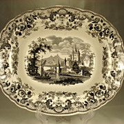 Large Transfer Printed Vegetable Dish, Pomerania, 1830's