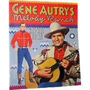 Vintage Gene Autry Melody Ranch paperdoll book mint uncut 1950