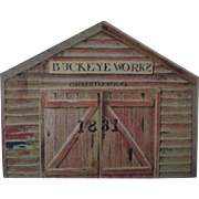 Buckeye Works Mowers Binders Plows farm diecut trade card 1880's-90's
