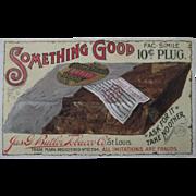 Something Good Plug Tobacco trade card 1880-90s