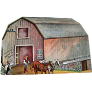 Milburn Hollow Axle Farm Wagon diecut trade card circa 1901