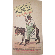 Scarce Black Beauty Axle Grease Black Americana advertising post card early 1900's