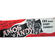 Amos & Andy Forget Your Troubles Rexall CBS Every Sunday Night sign 1950-54