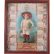 Advertising 1902 Calendar Jap-A-Lac Glidden Varnish high grade