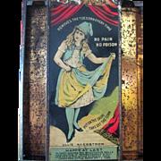 Advertising A-Corn Salve store display 19th century Ullie Akerstrom theater star