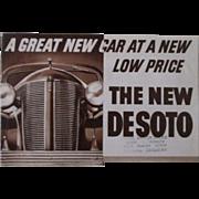 DeSoto 1936 original automobile dealers catalog