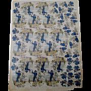 Hopalong Cassidy large dinnerware multiple decal sheet near mint 1950